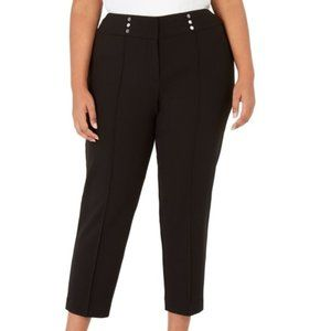 Women's Stretch Button-Detail Dress Pants